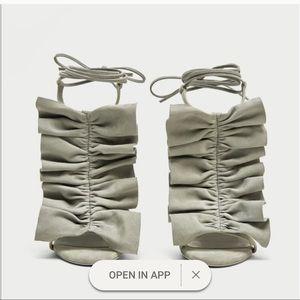 Zara Ruffle Strap Sandals